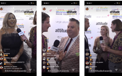 Attitude Magazine Awards streamed live to Instagram, YouTube and Twitter
